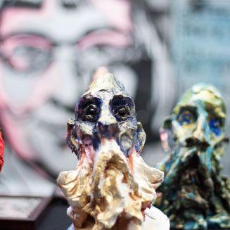 Art_Crawl-clay sculpts with van